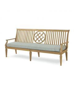 Bunny Williams Teak Outdoor Garden Bench - Available in a Variety of Fabrics