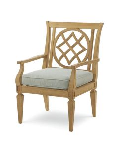 Bunny Williams Teak Outdoor Garden Chair - Available in a Variety of Fabrics