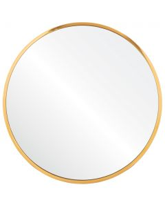 Burnished Brass Classic Round Wall Mirror