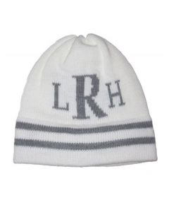 Classic Stripes & Monogram Personalized Hat - Regular Or Earflap