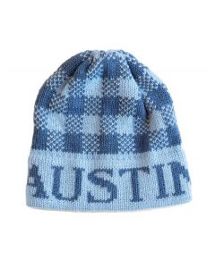 Regular Or Earflap Gingham Personalized Hat Available in Variety of Colors