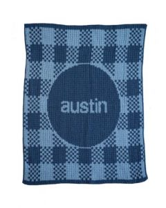 Gingham Personalized Stroller Blanket Available in Variety of Colors