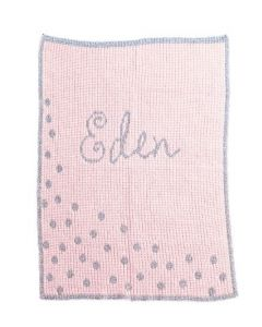 Metallic Sprinkled Dots Personalized Blanket Available in Variety of Colors