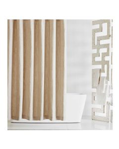 Kravet Madison Beige Linen Shower Curtain