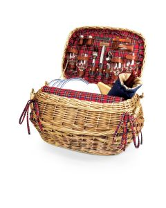 Camden Deluxe Picnic Basket in Chestnut Brown Willow