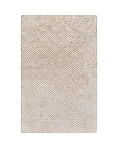 Camel and Ivory Diamond Rug - Available in a Variety of Sizes