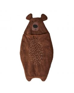 Campout Brown Bear Sleeping Bag for Kids
