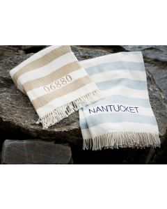 Candy Stripe Fringed Throw - Available in a Variety of Colors - Can Be Personalized