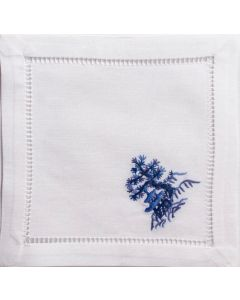 Set of 4 Canton Blue Cocktail Napkins