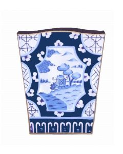 Canton in Blue Wastebasket With Optional Tissue Box