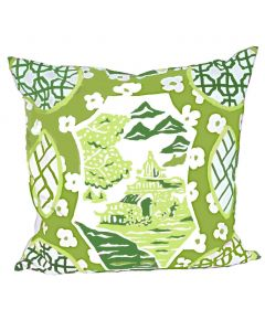 Canton in Green Square Pillow