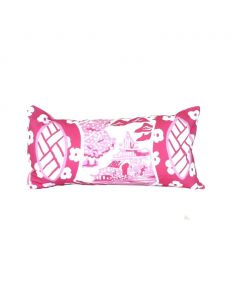 Canton in Pink Lumbar Pillow
