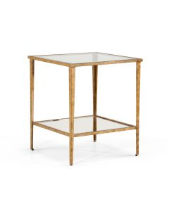 Antique Gold Leaf End Table - OUT OF STOCK
