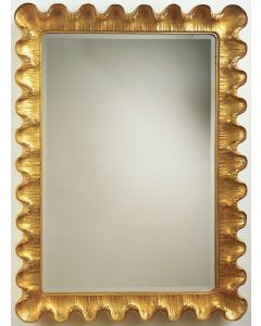 Carver's Guild Art Deco Wave Moderne Wall Mirror - Available in a Variety of Finishes