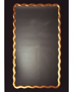 Carver's Guild Scalloped Rectangle II Wall Mirror in Antique Gold Leaf