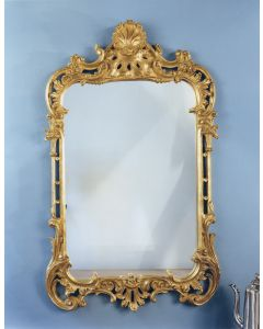 Carver's Guild Shell Chippendale Wall Mirror in Antique Gold Leaf