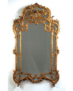 Carvers' Guild Chateau Chantilly Mirror in Antique Gold Leaf Finish