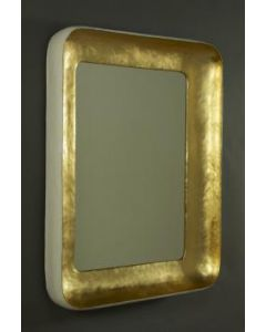 Carvers' Guild Cove Mirror in Gold with White Rim