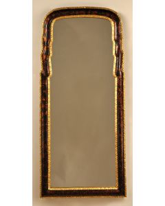 Carvers Guild Faux Tortoise on Gold Queen Anne II Mirror