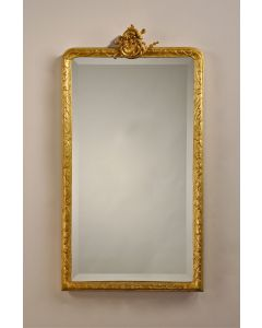 Carvers' Guild Sweet Anne Mirror in Antique Gold Leaf