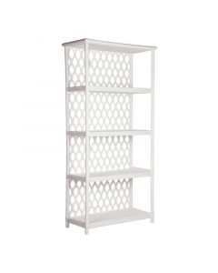 David Francis Casablanca Rattan Frame Etagere and Bookshelf-Available in a Variety of Finishes