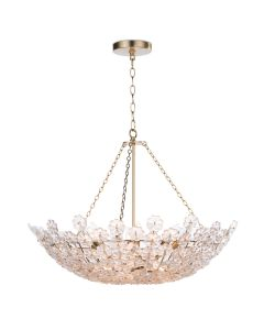 Cast Glass Flower Chandelier - LOW STOCK CALL TO CONFIRM AVAILABILITY