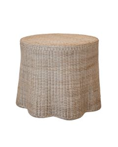 Scalloped Round Wicker Center Table - Available in Variety of Finishes