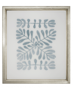 Floating Blue Velvet Fabric Vines Framed Wall Art II