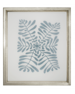 Charlotte Morgan Floating Blue Velvet Vines Framed Wall Art V