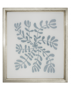 Floating Blue Velvet Fabric Vines Framed Wall Art VI