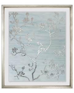 Silver Leaf Blossoms Framed Wall Art II