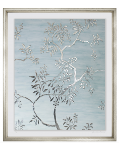 Silver Leaf Blossoms Framed Wall Art I