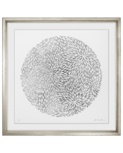 Silver Petals Framed Wall Art I