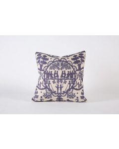 Chateau Flora Decorative Pillow in Indigo