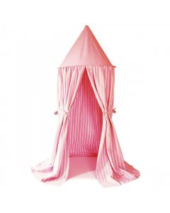 Multi-Stripe Rose Pink Hanging Play Tent for Kids - OUT OF STOCK