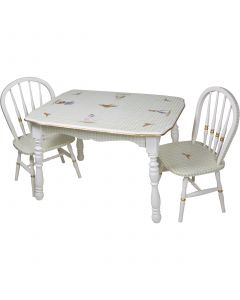 Child's Classic Enchanted Forest Vintage Play Table and Chairs Set