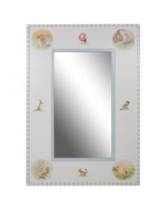 Child's Classic Winnie The Pooh Mirror in Antico White and Blue
