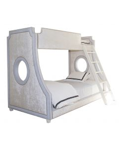 Child's Gramercy Porthole Bunk Bed With Nailhead Trim