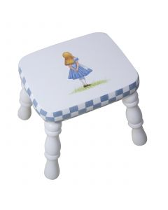 Child's Hand Painted Alice in Wonderland Stool