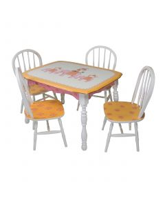 Child's Hand Painted Elephants on Parade Play Table and Chairs Set