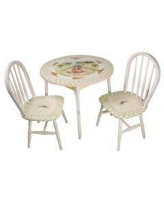 Child's Hand Painted Enchanted Forest Play Table and Chairs Set