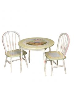 Child's Hand Painted Nursery Rhymes Play Table and Chairs Set