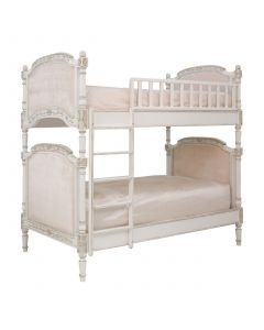 Child's Josephine Bunk Bed in Versailles Creme and Pink