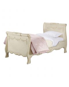 Child's Madeline Bed in Versailles Tea Stain with Appliqued Moulding
