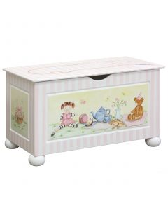 Child's Toy Chest With Tea Party Design