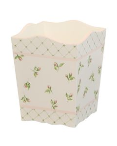 Children's Hand Painted Floral Buds Wastebasket