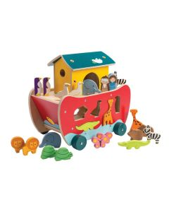 Noah's Ark Wooden Sorting Play Set for Kids