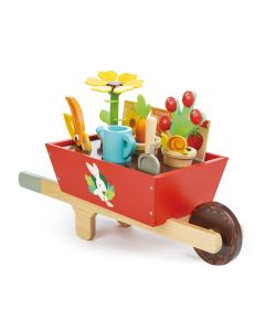 Pretend Play Gardening & Wheelbarrow Wooden Toy Set for Kids