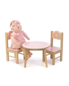 Sweetiepie Pink Table & Chairs Doll Furniture Set for Kids