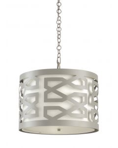 China Lattice Chandelier in Pewter Lacquered Iron - CALL TO CONFIRM AVAILABILITY